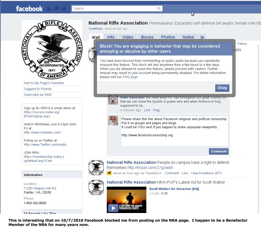 Facebook political censorship http://www.facebookcensorship.org